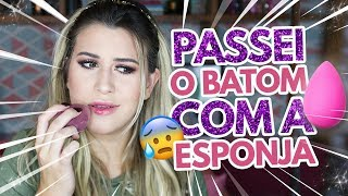 MAKE COMPLETA COM BEAUTY BLENDER