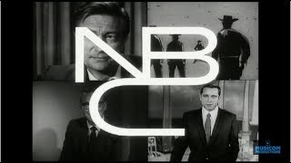 1959 - NBC-TV FILMED PROMO FALL '59 - Outlaws | Michael Shayne | The Price Is Right | Perry Como