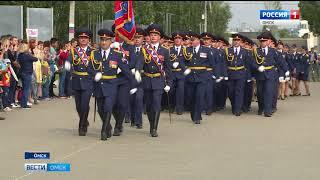 В Парке Победы прошел смотр строя и песни сотрудников УФСИН Омской области
