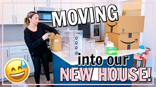 MOVING INTO OUR NEW HOUSE! CLEAN, ORGANIZE, & UNPACK WITH ME! | Alexandra Beuter