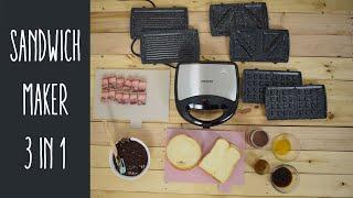Review Sandwich Maker Murah - idealife IL 202 3 in 1 SANDWICH WAFFLE GRILL
