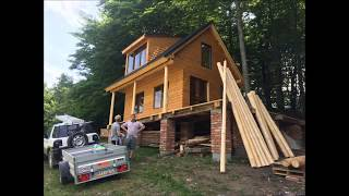 How to build a wooden cottage ( log cabin, log house ) (part 1)...Ako postaviť Chatu (časť 1)