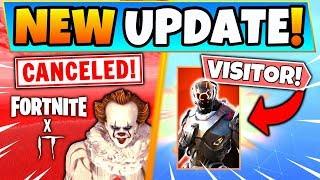 """Fortnite IT EVENT CANCELED + """"VOLTA"""" VISITOR LEAKED (Fortnite Battle Royale Update)"""
