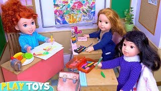 Play Baby Dolls Art Class in Our Generation Doll School Toy