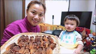 🇯🇵Hai mẹ con ăn hồng khô&Tâm sự cơ duyên gặp được anh xã nhà mình - Cuộc sống ở Nhật#49