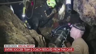 CBS News: Entire Soccer Team & Coach Rescued From Thai Cave