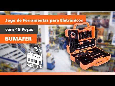 Jogo de Ferramentas Profissional 45 Peças Bumafer - Vídeo explicativo