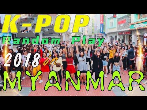 KPOP random play 2018 in Myanmar