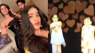 This childhood video of Janhvi Kapoor, Khushi dancing on a..