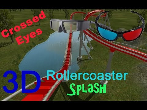 3D Rollercoaster: Splash (3D for PC/3D phones/3D TVs/Crossed Eyes)
