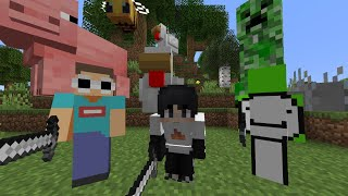Minecraft, But All Mobs Are Giant...