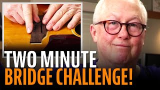 Watch the Trade Secrets Video, Dan Erlewine's 2-minute bridge gluing challenge!