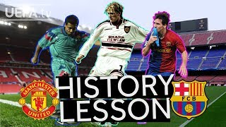 MAN. UNITED v BARCELONA: The full history of a classic #UCL fixture