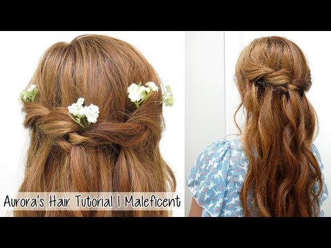 Princess Aurora Twisted Hairstyle From Disney S