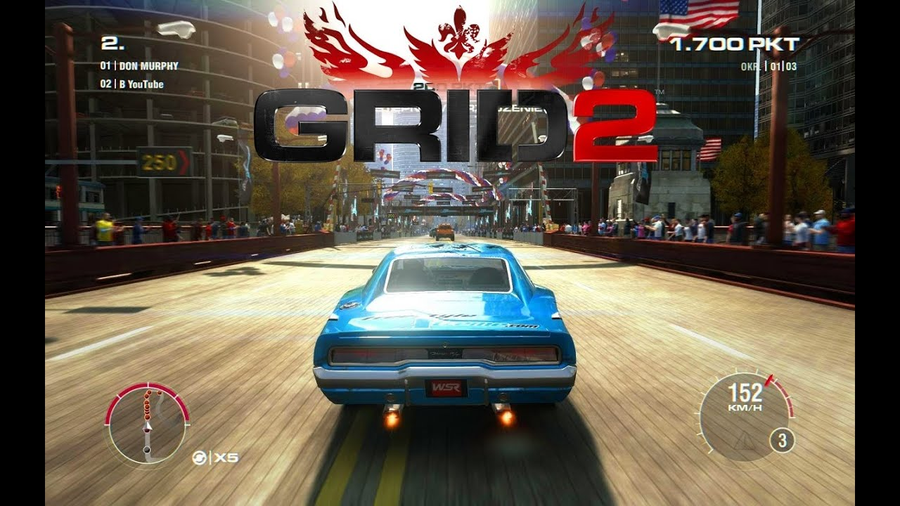 Grid 2 Gameplay Pc Wsr Race Dodge Charger Rt Youtube