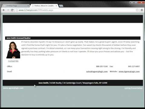 AgencyLogic Support Video - How to Take Your Single Property Website Offline