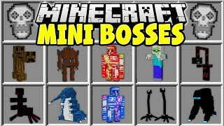 Minecraft MINI BOSSES MOD | FIGHT EPIC MINECRAFT BOSSES AND TRY TO SURVIVE!!