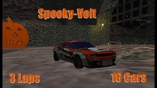 RVGL(Re-Volt) : Spooky-Volt | 2018 Halloween map | 3 Laps | 16 Cars Gameplay