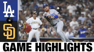 Dodgers vs. Padres Game Highlights (8/24/21) | MLB Highlights