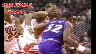 Dennis Rodman Totally Frustrates Karl Malone! 1998 Finals Game 3
