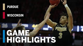 Highlights: Purdue at Wisconsin | Big Ten Basketball