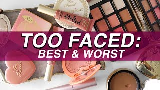 5 BEST & 5 WORST: TOO FACED | Jamie Paige