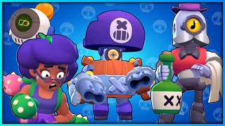 ALL BRAWLERS NEW FACE ANIMATIONS #GoldarmGang