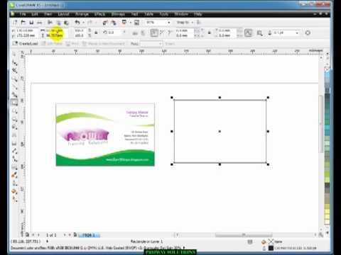 Learn CorelDraw - Tutorial in HINDI -3- visiting card design - YouTube - MusicBaby