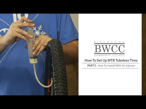 How To Install MTB Tubeless Tires With An Injector