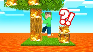 SKYBLOCK But LAVA RISES Every MINUTE! (Minecraft)