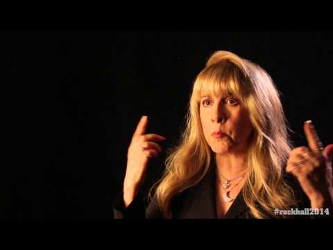 Stevie Nicks backstage interview at the 2014 Rock and Roll Hall of Fame Inductions