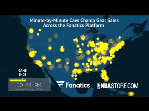 WATCH: Cleveland Cavs Minute-by-Minute Sales Following Championship Win