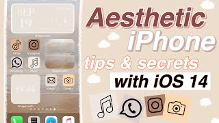Aesthetic iPhone Customization with iOS 14! // Widgets & Shortcuts