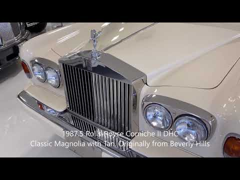 video 1987.5 Rolls-Royce Corniche II DHC