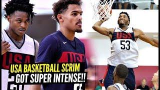 Trae Young vs DeAaron Fox! USA Basketball Scrimmage GOT CRAZY! Donovan Mitchell Gets BOUNCY!
