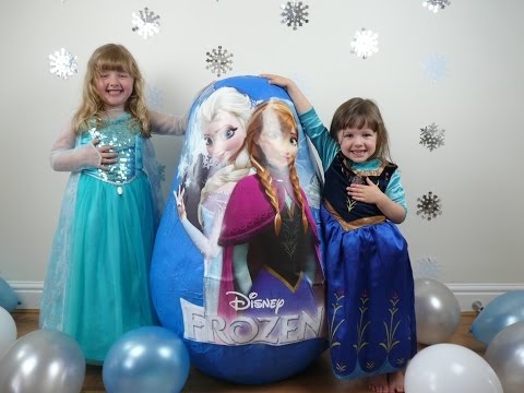 Disney Frozen Videos Super Giant Surprise Egg The Worlds