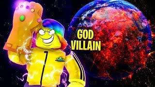 I Became a GOD VILLAIN and SNAPPED THE UNIVERSE with 1,000,000,000 DESTRUCTION (Roblox)