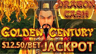 HIGH LIMIT Dragon Cash Link Golden Century HANDPAY JACKPOT ~ $50 Bonus Round Slot Machine Casino