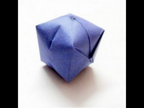 Origami Ball Tutorial - Water Bomb Easy Steps - YouTube - photo#13