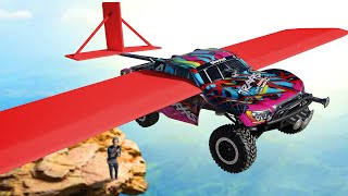 We Modded RC Cars to FLY! *EXTREME DROP TEST CHALLENGE*