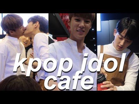 KPOP IDOLS WORKING A CAFE?! - Vlog