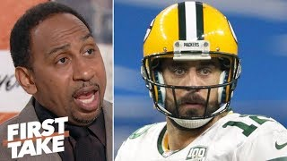 Stephen A. will make excuses for Aaron Rodgers if Packers miss playoffs | First Take
