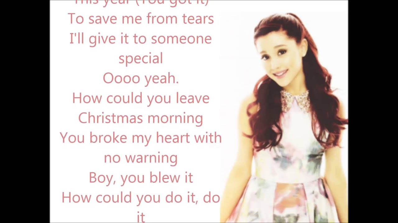 Ariana Grande Last Christmas Lyrics Youtube