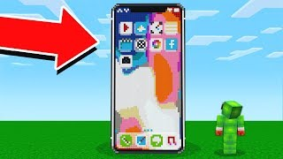 WORKING iPHONE X IN MINECRAFT!