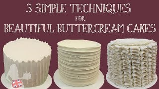 3 Simple Techniques For Beautiful Buttercream Cakes
