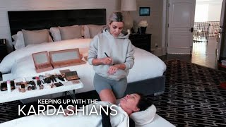 KUWTK | Kim Kardashian West Practices Mortician Makeup on Kris | E!