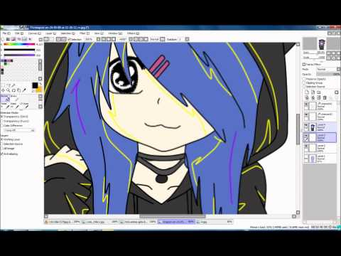 tutorial Paint Tool Sai - Skillet - Awake and alive - Monster