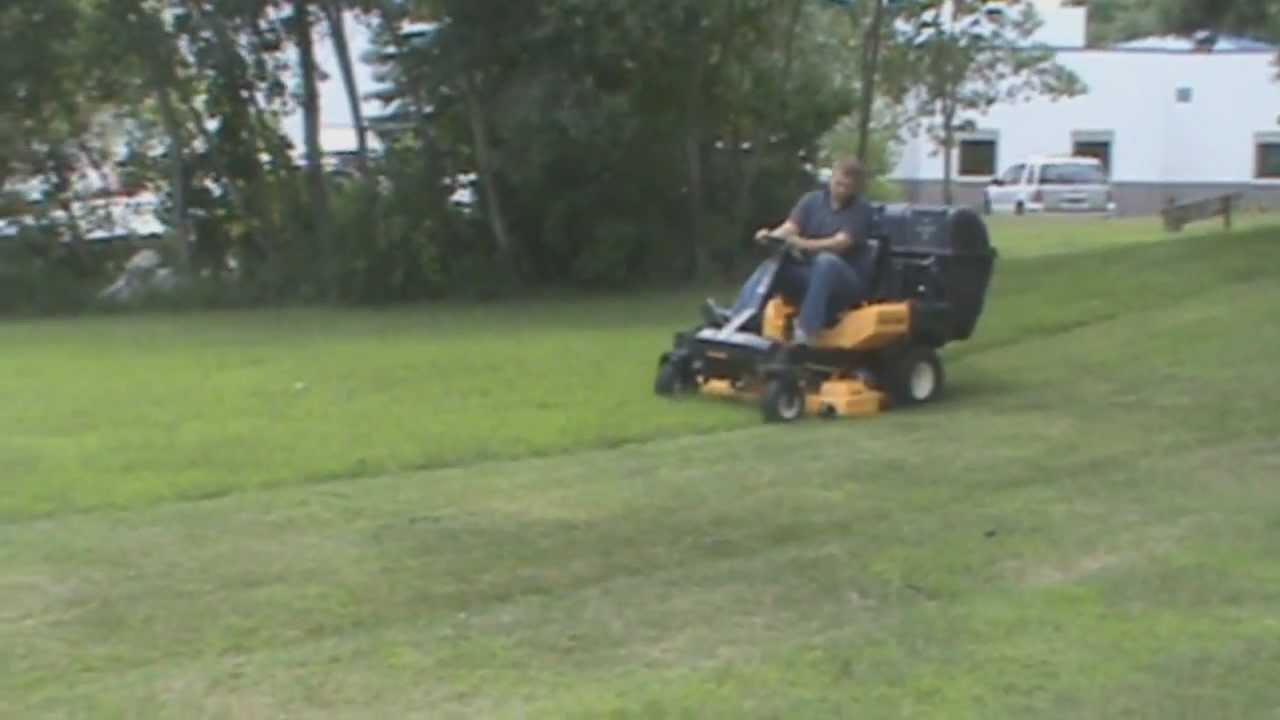 Cub Cadet Z Force S With Protero Pv 212 Lawn Vacuum Leaf