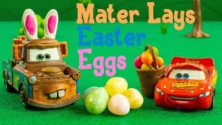 It's Easter Time and Mater Lays Easter Eggs Lightning McQueen Jackson Storm Cars