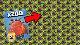 200 MAX BATTLE BLIMP vs 200 AIR DEFENSE LEVEL 10 | BATTLE BLIMP ATTACK | COC PRIVATE SERVER